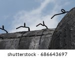 a world war two concrete old ...   Shutterstock . vector #686643697