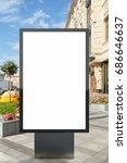 blank vertical street billboard ...   Shutterstock . vector #686646637