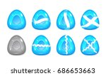 mobile game 2d assets   candy... | Shutterstock .eps vector #686653663