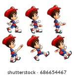 mobile game 2d assets  ... | Shutterstock .eps vector #686654467