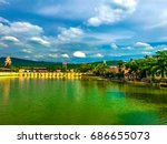the verona at thalang blue sky... | Shutterstock . vector #686655073