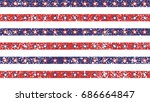 4th of july stars and stripes... | Shutterstock .eps vector #686664847