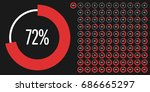 set of circle percentage... | Shutterstock .eps vector #686665297
