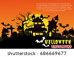 halloween vector background. | Shutterstock .eps vector #686669677