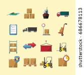 logistic icon | Shutterstock .eps vector #686678113