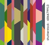 abstract color seamless pattern ... | Shutterstock .eps vector #686679913