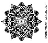 mandalas for coloring book.... | Shutterstock .eps vector #686687857