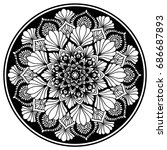 mandalas for coloring book.... | Shutterstock .eps vector #686687893