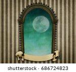 illustration or poster or... | Shutterstock . vector #686724823