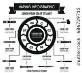 vaping infographic banner... | Shutterstock . vector #686729713