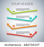 design elements arrow style... | Shutterstock .eps vector #686734147
