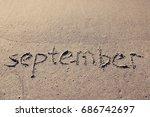 inscription september on a...   Shutterstock . vector #686742697
