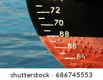 red ship hull with waterline... | Shutterstock . vector #686745553
