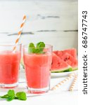 watermelon juice  simple to... | Shutterstock . vector #686747743