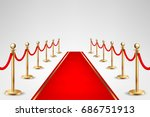 realistic vector red event... | Shutterstock .eps vector #686751913