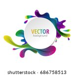 vector multicolor paint and a... | Shutterstock .eps vector #686758513