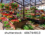 flower market  riga  june 5 ... | Shutterstock . vector #686764813