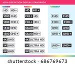 high definition display... | Shutterstock .eps vector #686769673