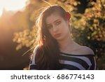Teen Girl Having Long Hair...