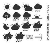vector image of set of weather...   Shutterstock .eps vector #686774737