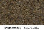 vector horizontal card pattern. ... | Shutterstock .eps vector #686782867