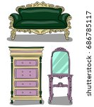 a set of furniture. chest of... | Shutterstock .eps vector #686785117