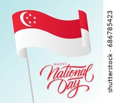 singapore happy national day... | Shutterstock .eps vector #686785423
