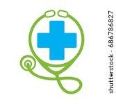 medical logo   Shutterstock .eps vector #686786827