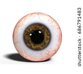 realistic human eye with brown... | Shutterstock . vector #686791483