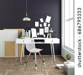 modern light interior  a place... | Shutterstock . vector #686795353
