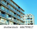 modern  luxury apartment... | Shutterstock . vector #686799817