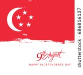 singapore happy independence... | Shutterstock .eps vector #686816137
