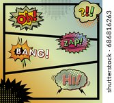 page sound effects comic. bang  ... | Shutterstock .eps vector #686816263