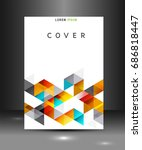 cover template with triangle... | Shutterstock .eps vector #686818447