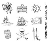 qualitative vector sketches of... | Shutterstock .eps vector #686822407