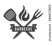 bbq. grill and barbecue... | Shutterstock .eps vector #686822803