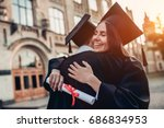 graduates in mantles with... | Shutterstock . vector #686834953