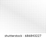 abstract halftone dotted... | Shutterstock .eps vector #686843227