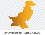 transparent   vector polygon... | Shutterstock .eps vector #686845603