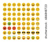 set of emoji emoticon character ... | Shutterstock .eps vector #686848723
