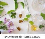 natural skincare bottle... | Shutterstock . vector #686863603