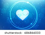 medical background with lines ... | Shutterstock .eps vector #686866033