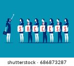 success. business team and... | Shutterstock .eps vector #686873287