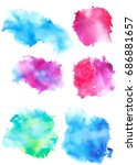 colorful abstract watercolor... | Shutterstock .eps vector #686881657