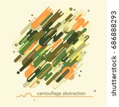 camouflage style  army or... | Shutterstock .eps vector #686888293