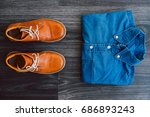 men's casual outfit with denim... | Shutterstock . vector #686893243