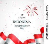 17 august. indonesia happy... | Shutterstock .eps vector #686895997