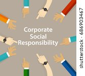 csr corporate social... | Shutterstock .eps vector #686903467