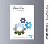 abstract flyer design... | Shutterstock .eps vector #686908417