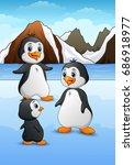 vector illustration of penguin... | Shutterstock .eps vector #686918977